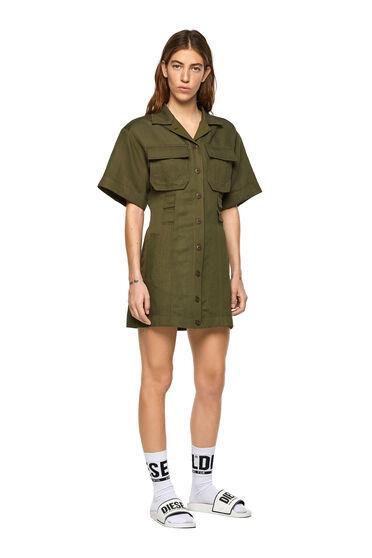 Shirt dress in fluid twill