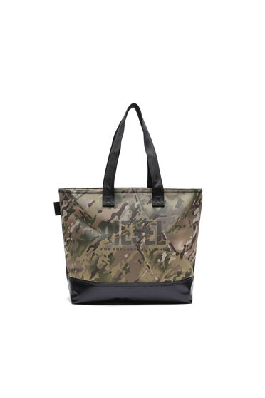 Double-sided shopper with camo prints