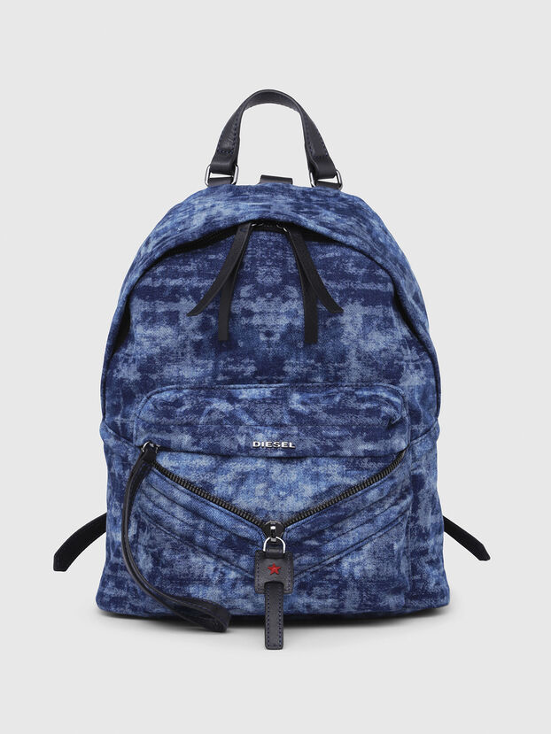 LE-ZIPPER BACKPACK, Blue/White - Backpacks