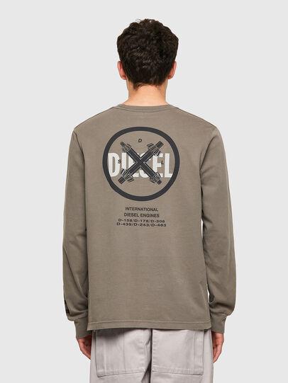 Diesel - T-JUBINDY-LS, Verde Oliva - Camisetas - Image 2