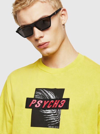 Diesel - T-JUST-Y18, Yellow - T-Shirts - Image 2