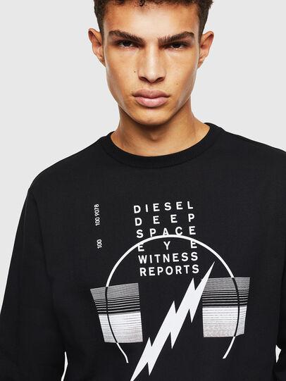 Diesel - S-GIRK-J2, Black - Sweatshirts - Image 3