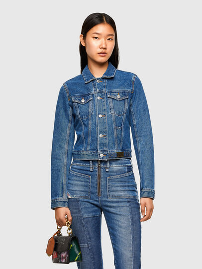 Diesel - DE-LIMMY, Medium Blue - Denim Jackets - Image 1