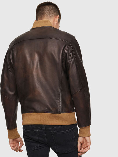 Diesel - L-OIUKI, Brown - Leather jackets - Image 2