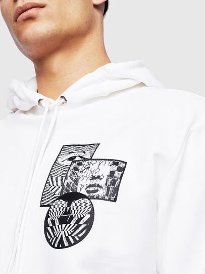 Diesel - S-GIRK-HOOD-S4, White - Sweatshirts - Image 5