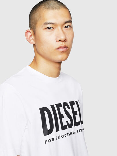 Diesel - T-JUST-LOGO, White - T-Shirts - Image 3