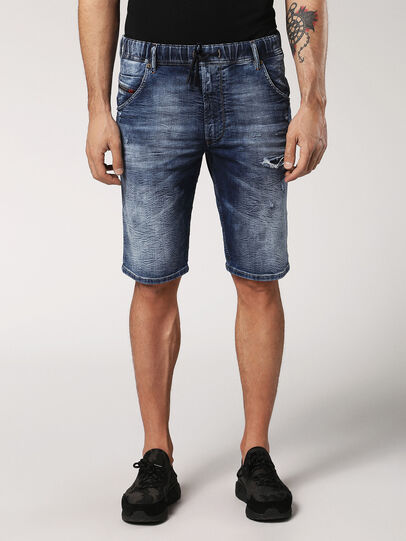 Diesel - KROOSHORT JOGGJEANS, Medium Blue - Shorts - Image 1