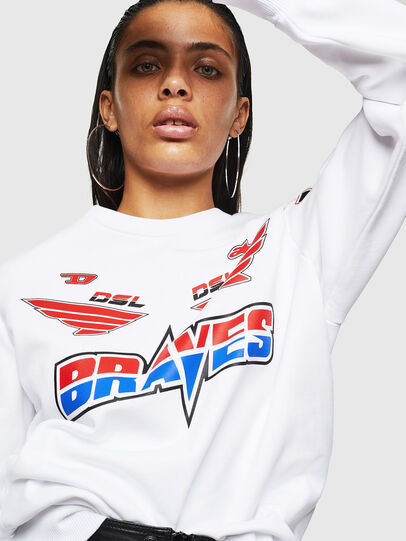 Diesel - ASTARS-F-GIR-A-FL, White - Sweatshirts - Image 3