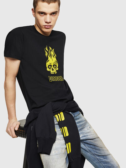 Diesel - T-DIEGO-A11, Black/Yellow - T-Shirts - Image 4