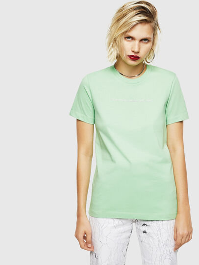Diesel - T-SILY-COPY, Green - T-Shirts - Image 1