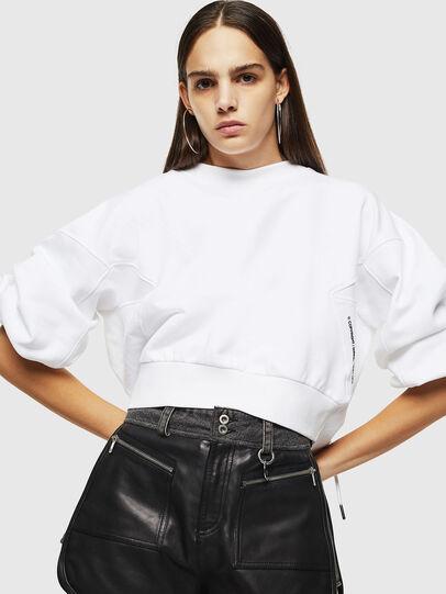 Diesel - F-MONDY, White - Sweatshirts - Image 4