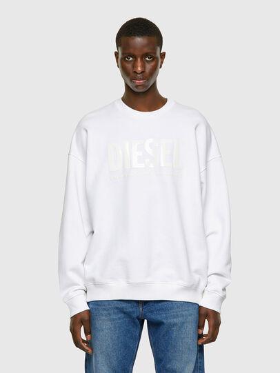 Diesel - S-MART-INLOGO, White - Sweatshirts - Image 1