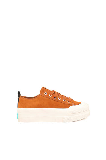 Suede sneakers with double sole