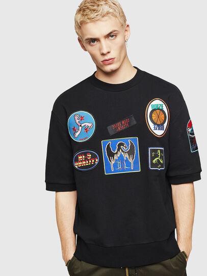 Diesel - S-MAGGY-SH-PATCH, Black - Sweatshirts - Image 1