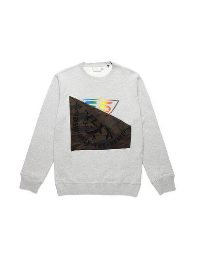 Diesel - D-HALF&HALF, Grey - Sweatshirts - Image 1