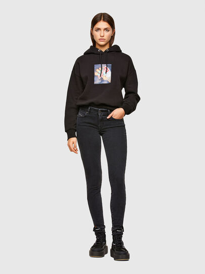 Diesel - D-Jevel Slim Jeans 0870G, Black/Dark Grey - Jeans - Image 6