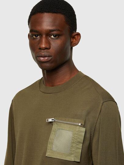 Diesel - K-NAVAJO, Military Green - Sweaters - Image 3