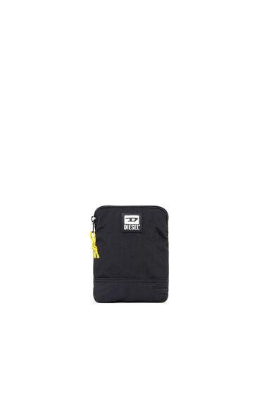 Slim cross-body bag in washed nylon