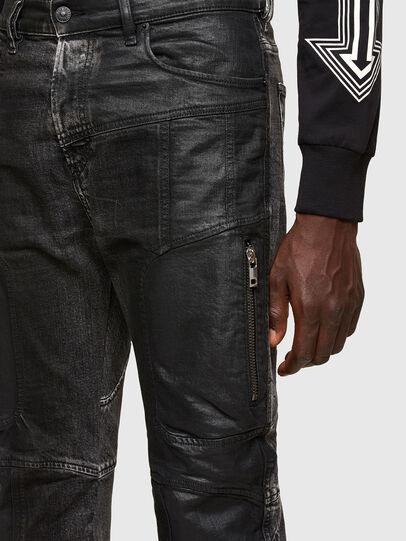 Diesel - D-Vider Carrot Jeans 009QZ, Black/Dark Grey - Jeans - Image 3