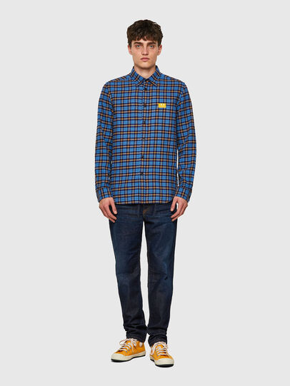 Diesel - S-MOI-CHK-A, Blue/Yellow - Shirts - Image 4