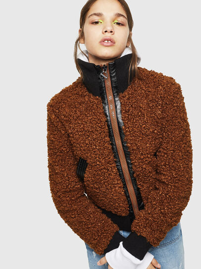 Diesel - L-TOSHA, Brown - Leather jackets - Image 6