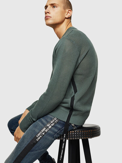 Diesel - K-RIO, Olive Green - Sweaters - Image 4