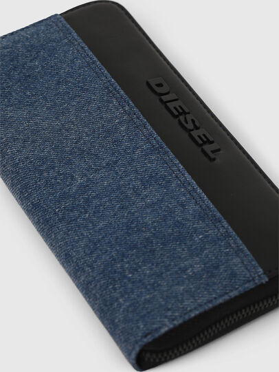Diesel - 24 ZIP, Blue/Black - Zip-Round Wallets - Image 3