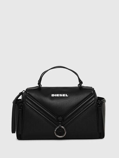 Diesel - LE-ZIPPER SATCHEL, Black - Satchels and Handbags - Image 1