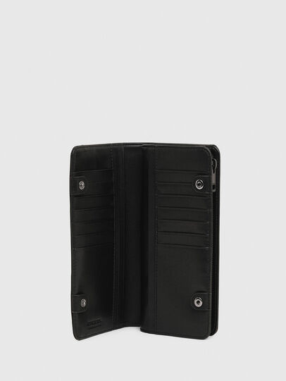 Diesel - V-24 ZIP, Black - Zip-Round Wallets - Image 4