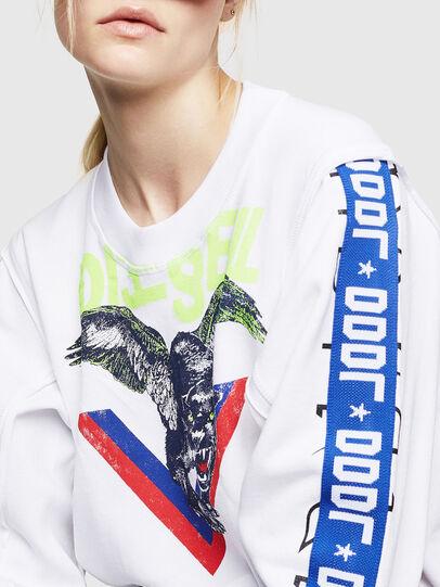 Diesel - F-LYANYDY, White - Sweatshirts - Image 3