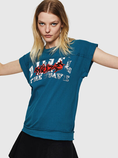 Diesel - T-JAIDA-A, Blue Marine - T-Shirts - Image 1