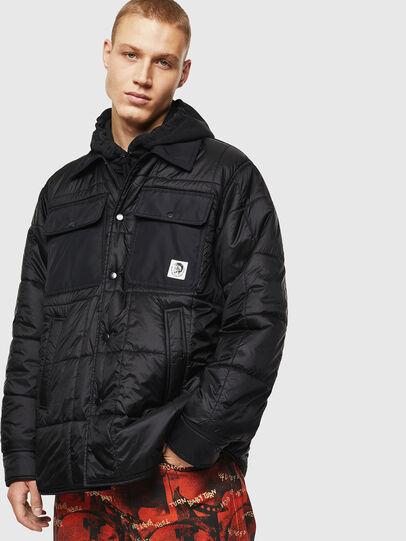 Diesel - J-WELLES, Black - Winter Jackets - Image 1
