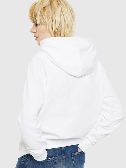 Diesel - S-GIRK-HOOD-S1, White - Sweatshirts - Image 4