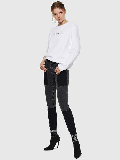 Diesel - F-LYANY-F, White - Sweatshirts - Image 5