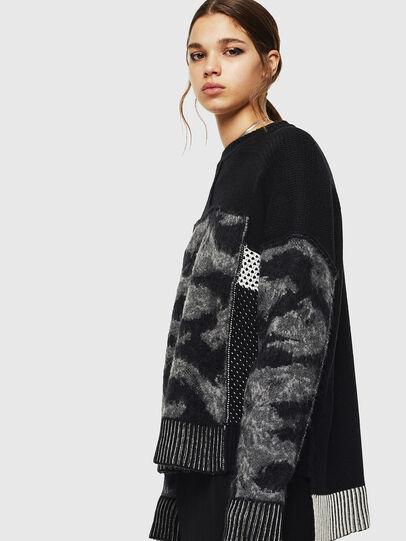 Diesel - M-POST, Black - Sweaters - Image 6