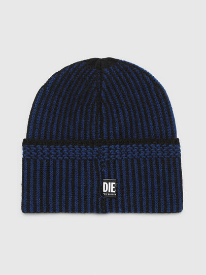 Diesel - K-MANNYS, Black/Blue - Knit caps - Image 2