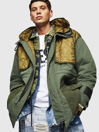 Diesel - W-KOVIK, Military Green - Winter Jackets - Image 4