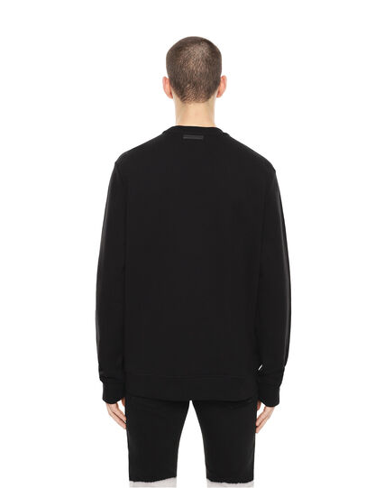 Diesel - SNEILB-DRIPPINGSOLDI, Black - Sweatshirts - Image 2