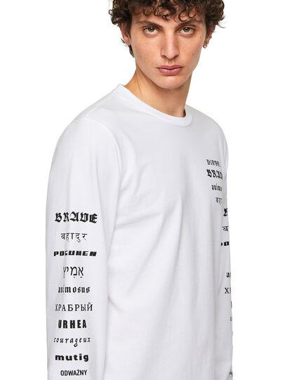 Diesel - T-JUST-LS-B50, White - T-Shirts - Image 3
