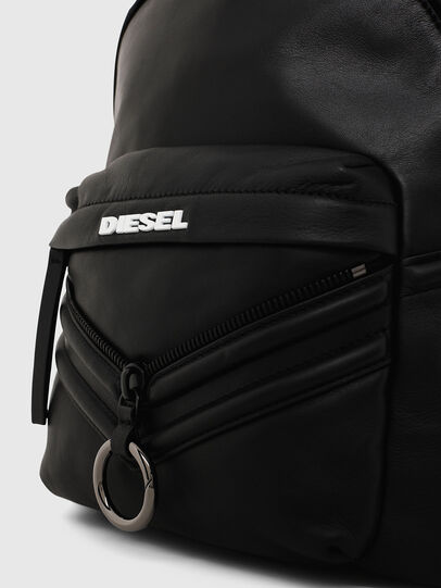 Diesel - LE-ZIPPER BACKPACK, Black - Backpacks - Image 4