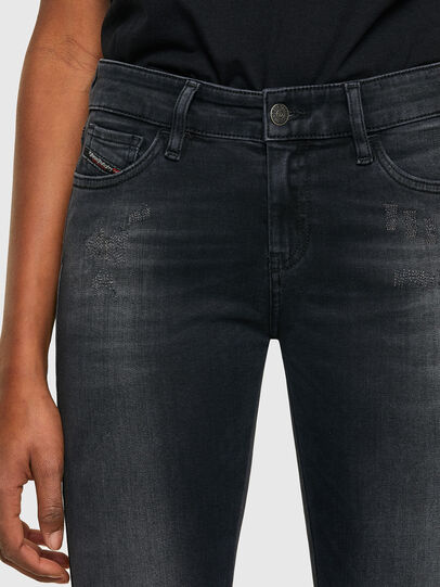 Diesel - Slandy Skinny Jeans 069SB, Black/Dark Grey - Jeans - Image 3