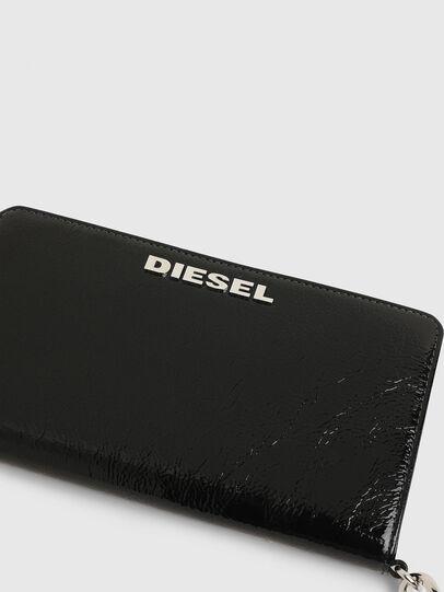 Diesel - GRANATO LCLS, Black - Zip-Round Wallets - Image 4