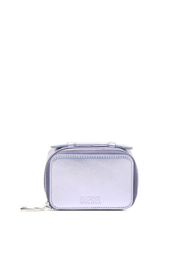 Mini-bag wallet in iridescent leather