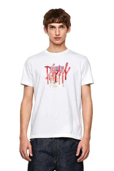 Camiseta con logotipo de goteo