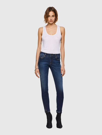 Diesel - D-Jevel Slim Jeans 09A30, Dark Blue - Jeans - Image 6
