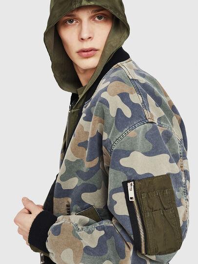 Diesel - D-AZLEY JOGGJEANS, Green Camouflage - Denim Jackets - Image 3