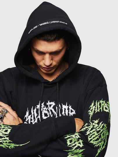 Diesel - S-ALBY-BX3, Black - Sweatshirts - Image 7