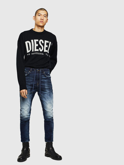 Diesel - D-Vider JoggJeans 069KD, Dark Blue - Jeans - Image 6