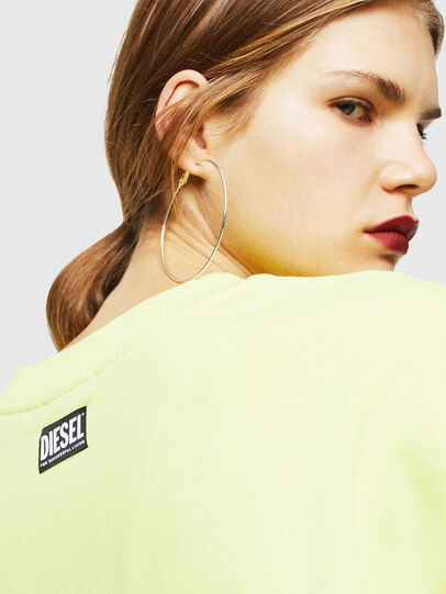 Diesel - F-AKUA, Yellow Fluo - Sweatshirts - Image 5