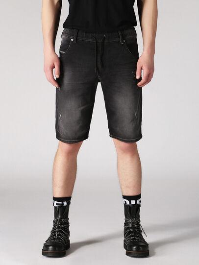 Diesel - KROOSHORT JOGGJEANS, Dark Grey - Shorts - Image 1